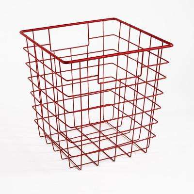 11 in. H x 11 in. W Red Wire Drawer