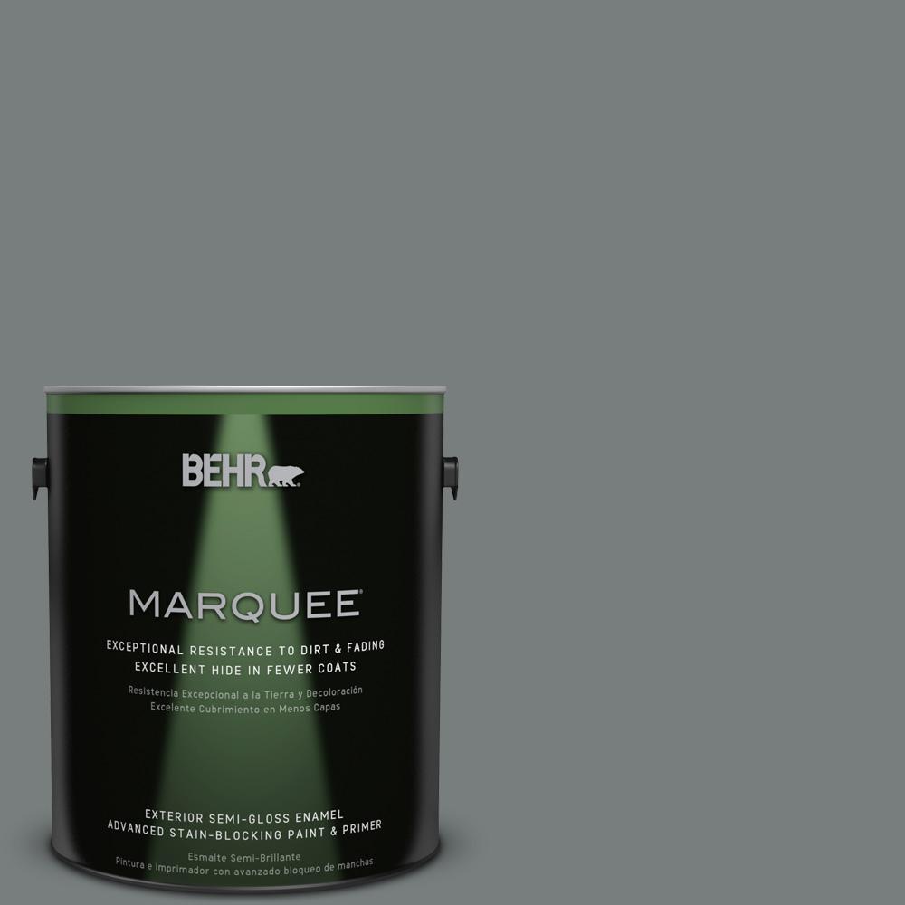 1 gal. #PPU25-18 Shutter Gray Semi-Gloss Enamel Exterior Paint