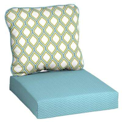 Driweave 24 X 22 Porcelain And Pear Deep Seating Outdoor Lounge Chair Cushion