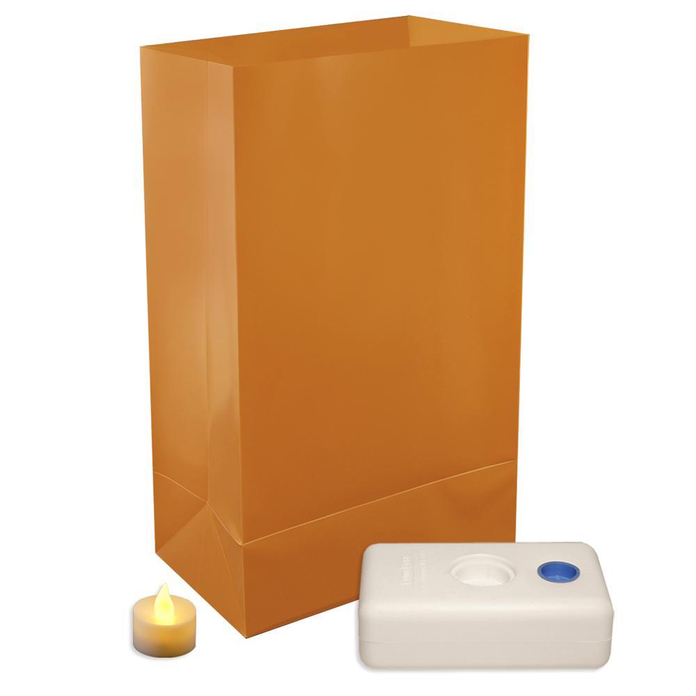 Lumabase Tan LED Luminaria Kit (Set of 12)