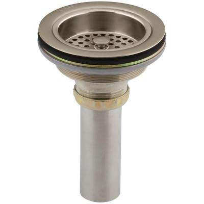 Duostrainer 4-1/2 in. Sink Strainer with Tailpiece in Vibrant Brushed Bronze