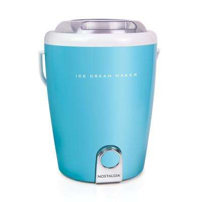 4 Qt. Gourmet Ice Cream Maker in Blue