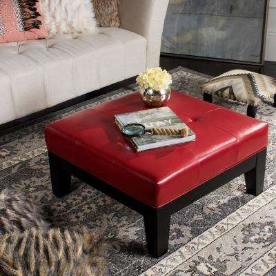 Elizabeth Red Accent Ottoman