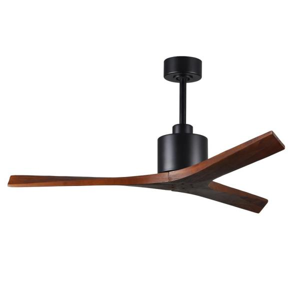 Mollywood 52 in. Matte Black Ceiling Fan with Hand Held Remote and Wall Control