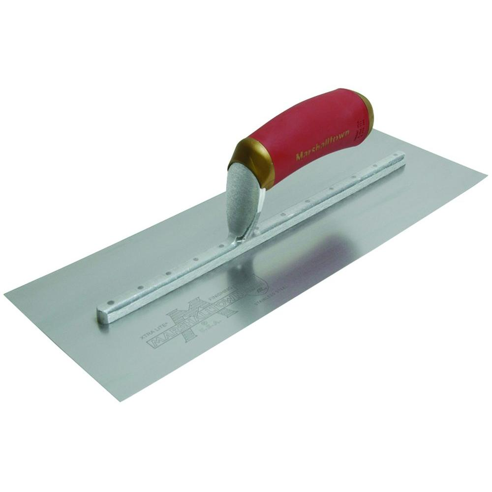 Marshalltown 20 in. x 4 in. PermaShape Broken-In Trowel