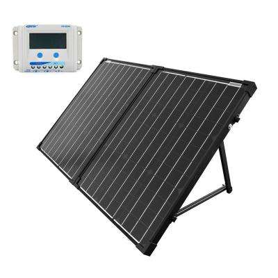 100-Watt Portable Briefcase OffGrid Solar Panel Kit with 10-Amp LCD Charge Controller