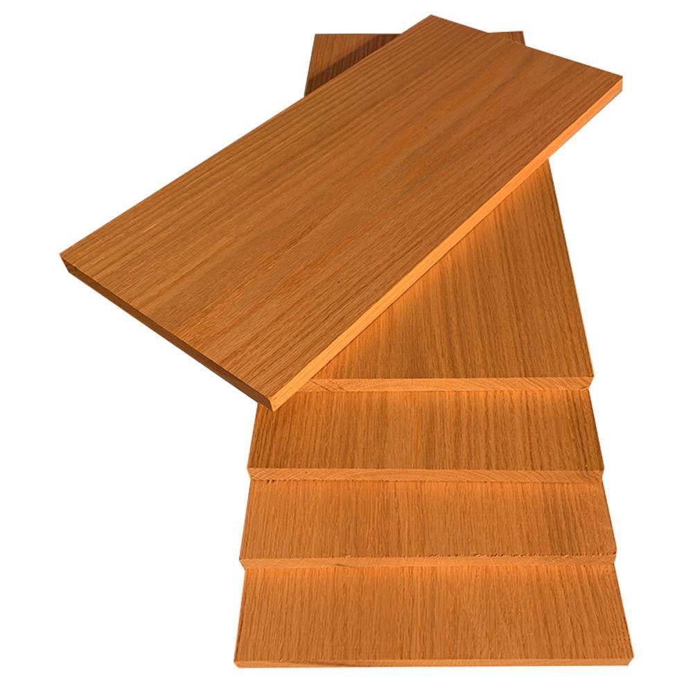 1 in. x 12 in. x 2 ft. Red Oak S4S Board (5-Pack)