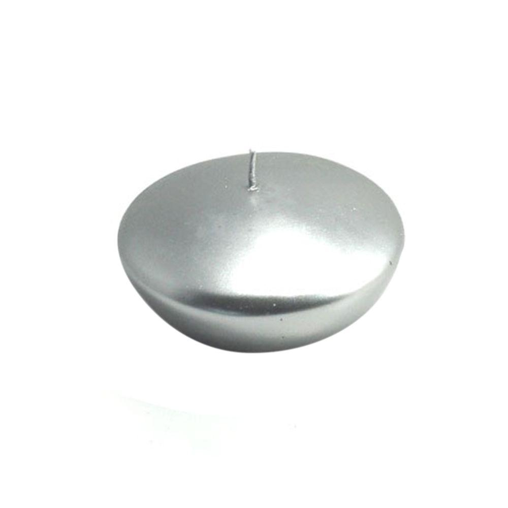3 in. Metallic Silver Floating Candles (Box of 12)