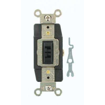 20 Amp Industrial Grade Heavy Duty Single Pole Double-Throw Center-Off Maintained Contact Locking Switch, Brown