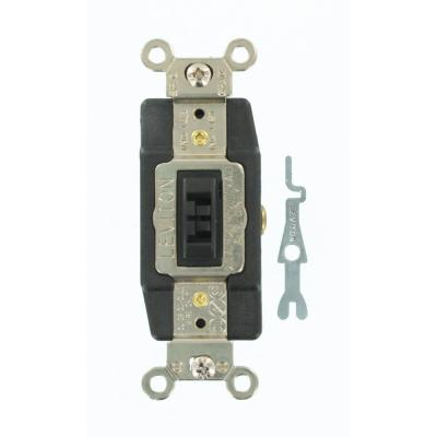 Leviton 20 Amp Industrial Grade Heavy Duty Single-Pole Double-Throw  Center-Off Momentary Contact Locking Switch, Brown-1257-L - The Home DepotThe Home Depot