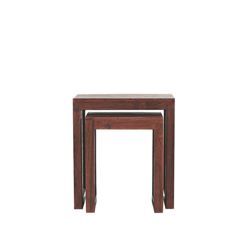 Home Decorators Collection Maharaja Walnut 2 Piece Nesting End Table 0652100960    The Home Depot