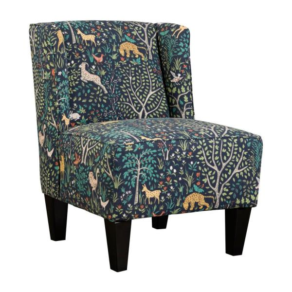 Charlie Multi-Color Winged Upholstered Slipper Chair 5175