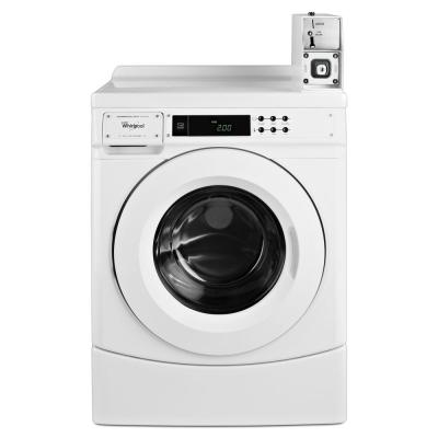 3.1 cu. ft. High-Efficiency White Front Load Commercial Washing Machine Coin Operated