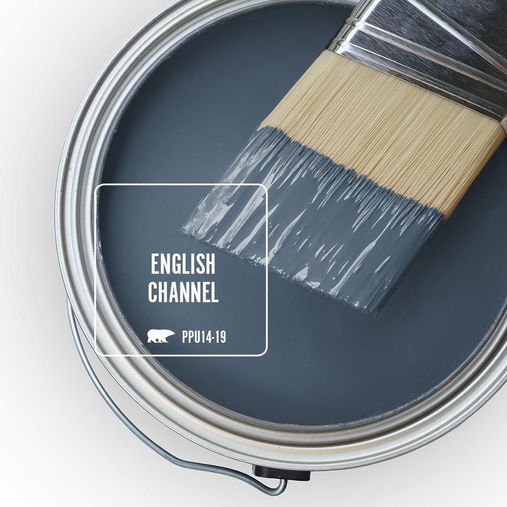 BEHR English Channel paint color is a lovely denim blue to try. #behrenglishchannel #bluepaint #paintcolors #denimblue