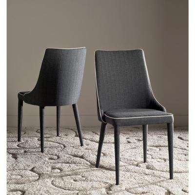 Summerset Gray/White Piping 19 in. H Linen Side Chair (Set of 2)