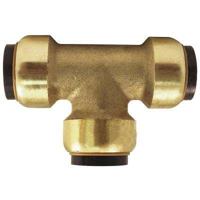 1/2 in. Brass Push-to-Connect Tee