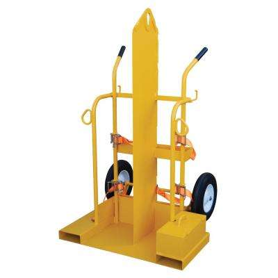 500 lb. Fire Proof Welding Cylinder Torch Cart with Foam Filled Wheels