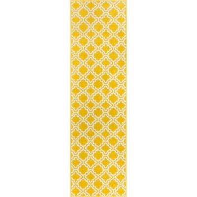 StarBright Calipso Yellow 2 Ft. X 7 Ft. Kids Runner Rug