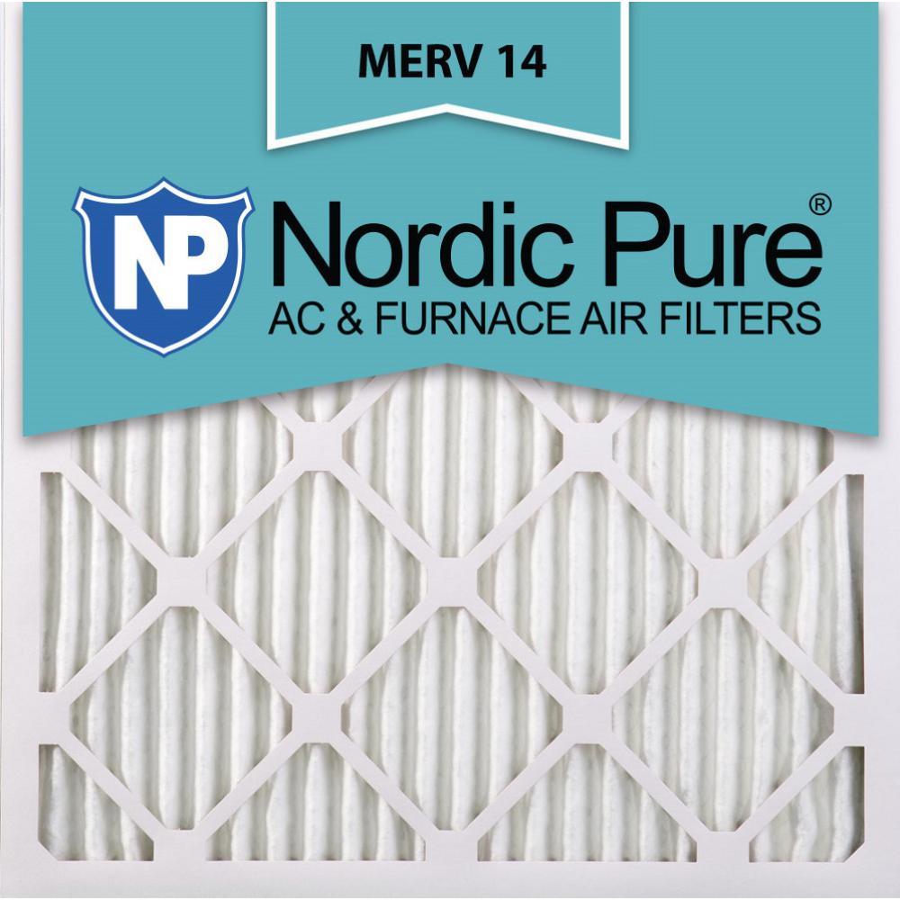 24 in. x 24 in. x 1 in. Supreme Allergen Pleated MERV 14 - FPR 10 Air Filter (6-Pack)