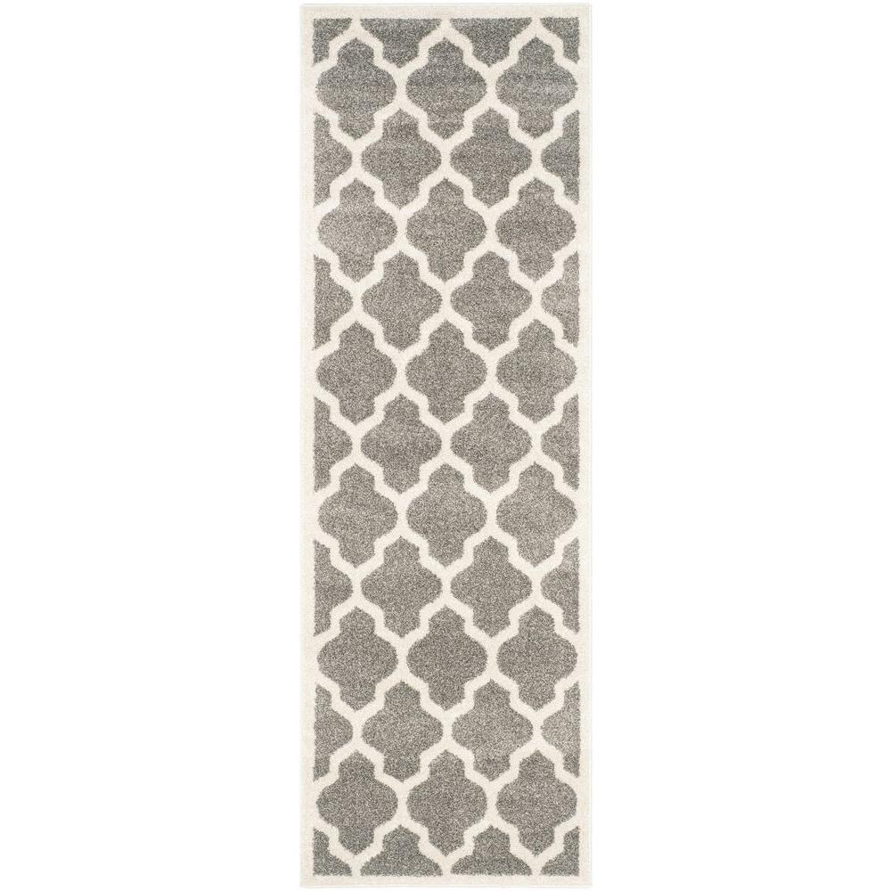 Safavieh Amherst Dark Gray/Beige 2 ft. 3 in. x 9 ft. Indoor/Outdoor Runner