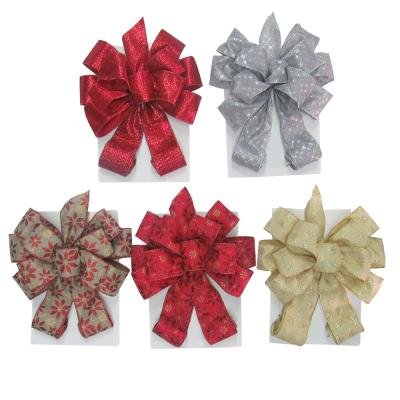 Tree Topper Bow- 6 Assorted