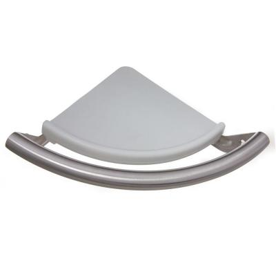 8.5 in. x 1 in. Corner Shelf Safety Assist Bar in Brushed Stainless Steel