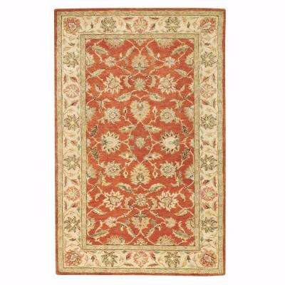 Old London Terra/Ivory 7 ft. 6 in. x 9 ft. 6 in. Area Rug