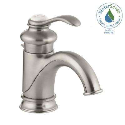 Fairfax Single Hole Single Handle Low-Arc Bathroom Vessel Sink Faucet with Lever Handle in Vibrant Brushed Nickel