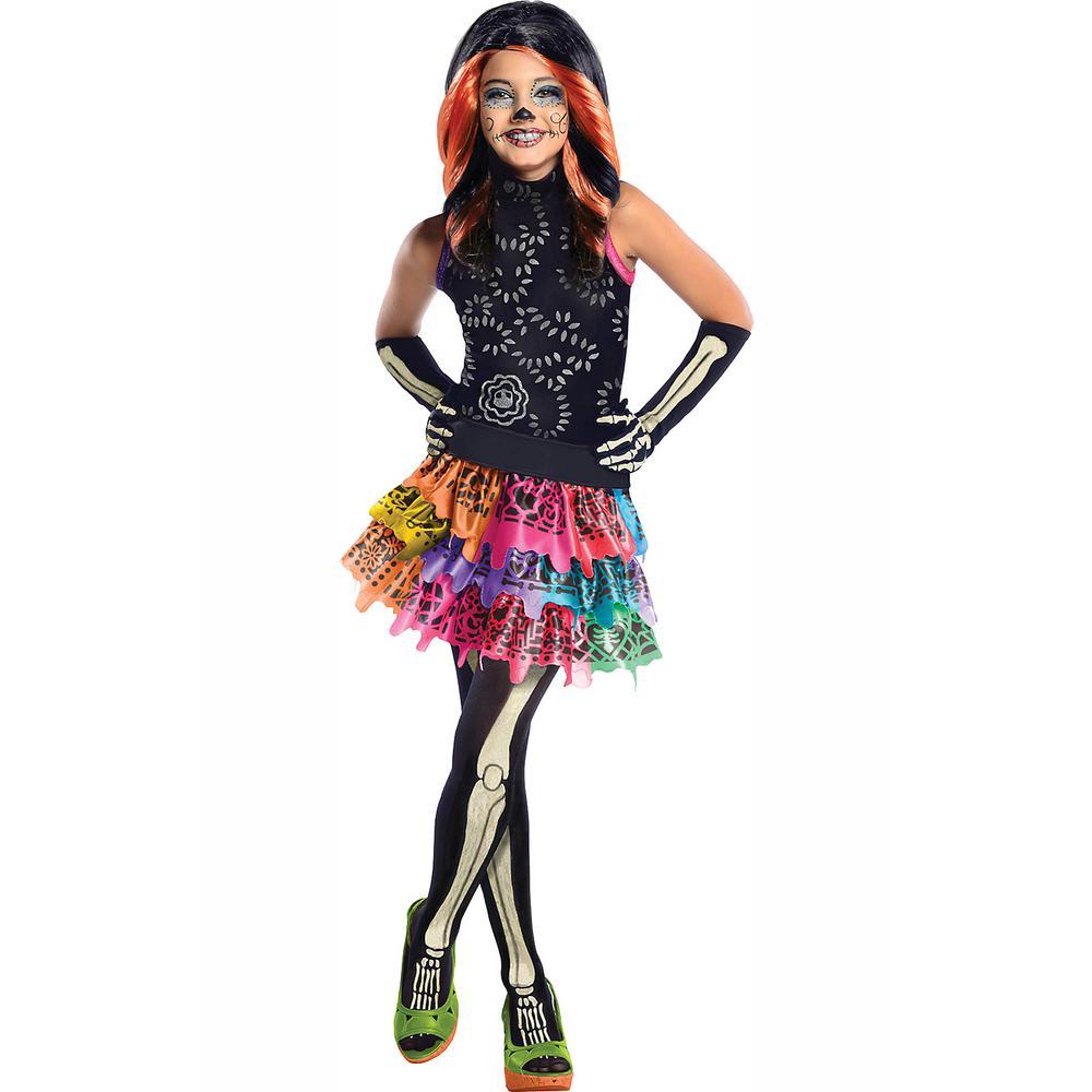 Halloween Costumes For Girls.Rubie S Costumes Large Girls Skelita Calaveras Monster High Costume