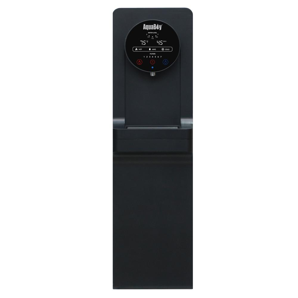 Pro II Water Cooler/Dispenser-Air to Water Generator in Black Stainless Steel