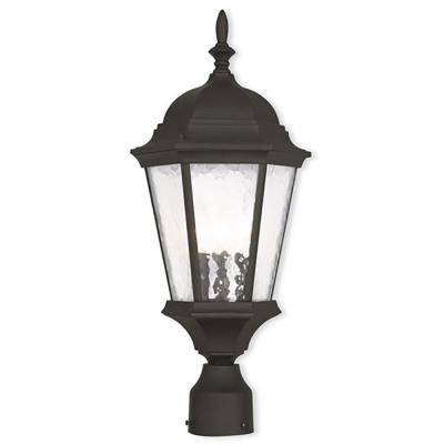 Hamilton 3-Light Outdoor Textured Black Post Light