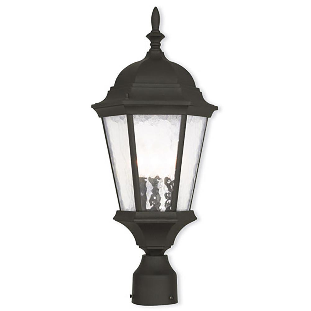Hamilton 3-Light Outdoor Textured Black Post Light
