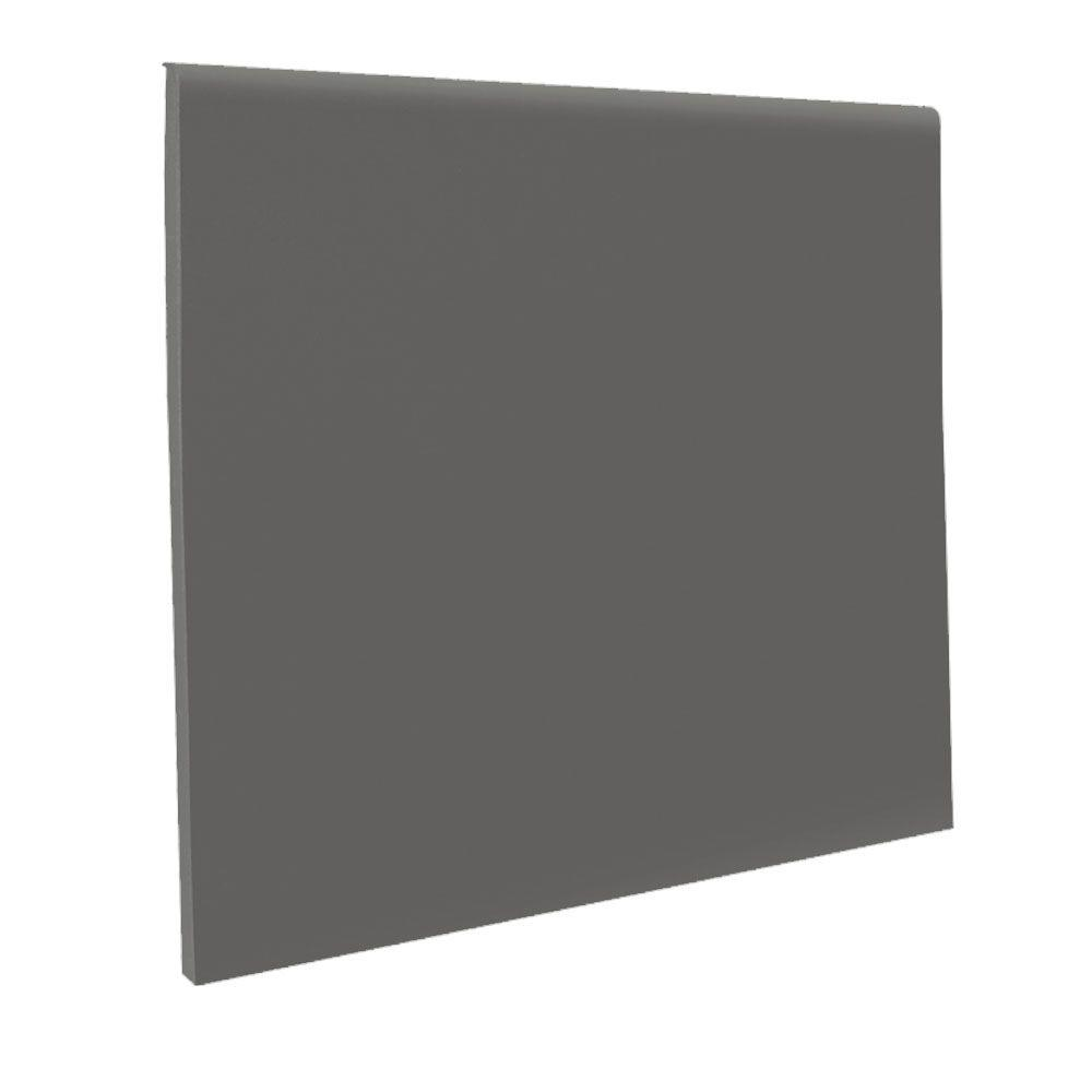ROPPE Pinnacle No Toe Charcoal 4 in. x 120 ft. x 1/8 in. Rubber Wall Cove Base Coil