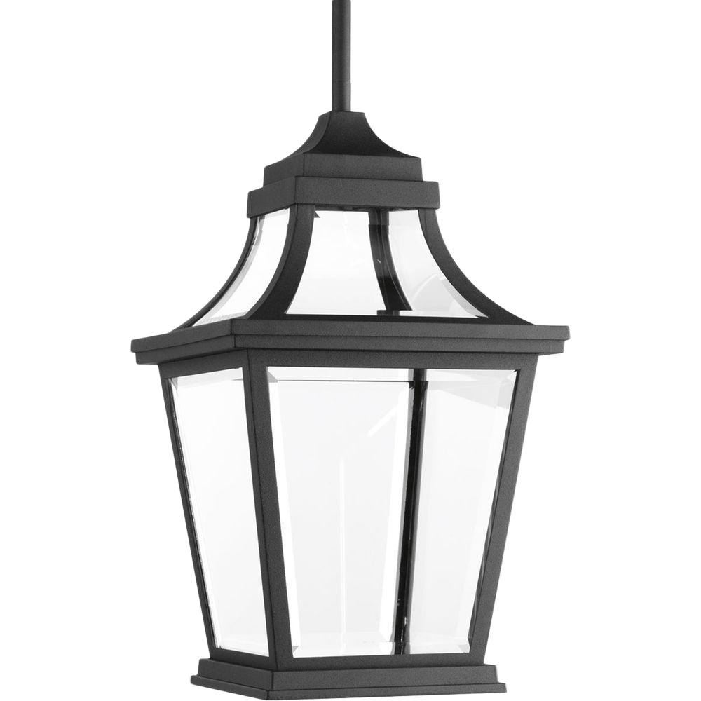 Progress Lighting Endorse Collection 1-Light Outdoor Black LED Hanging Lantern