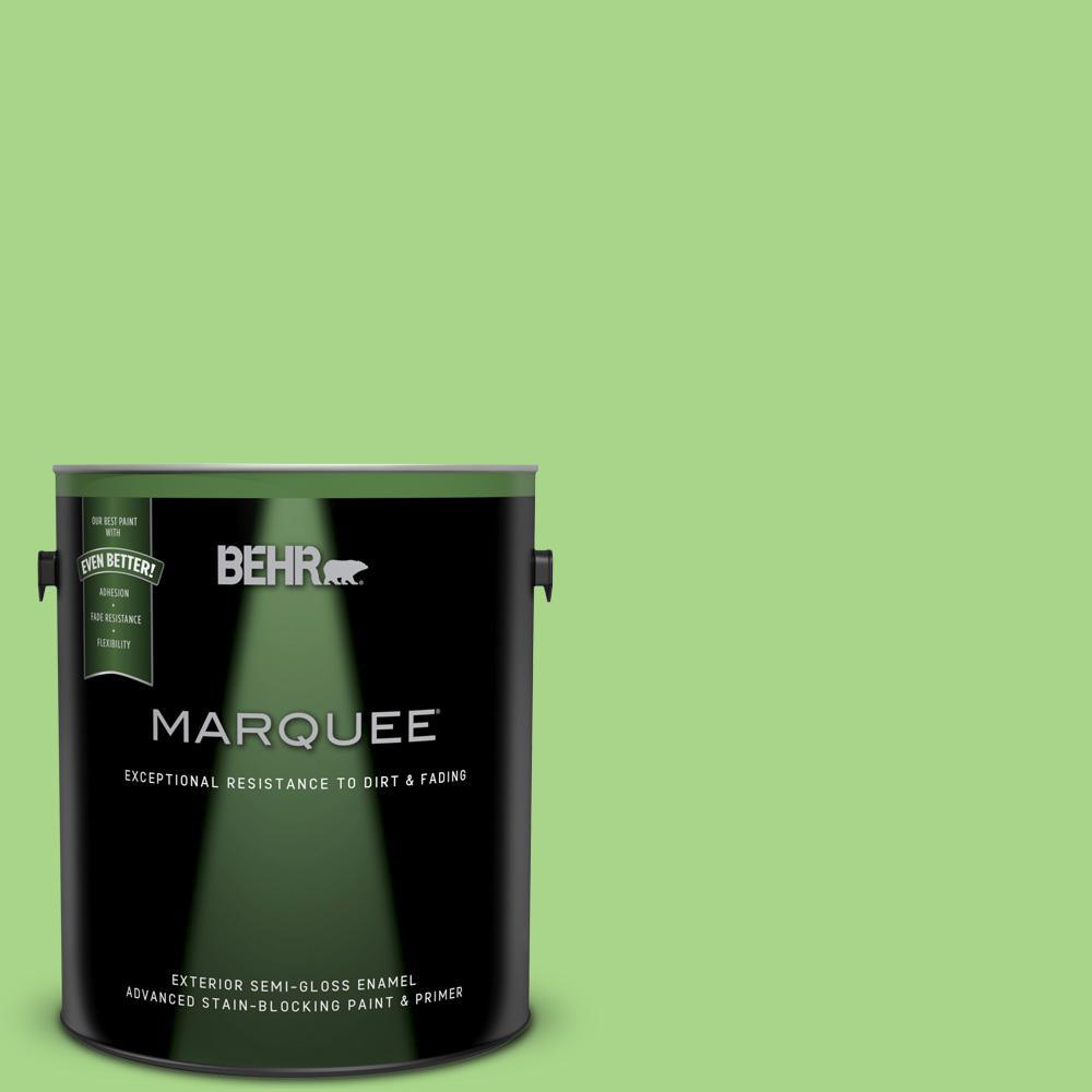 1-gal. #430B-4 Peas in a Pod Semi-Gloss Enamel Exterior Paint