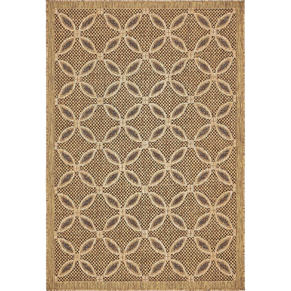 Outdoor Light Brown 4' x 6' Indoor/Outdoor Rug