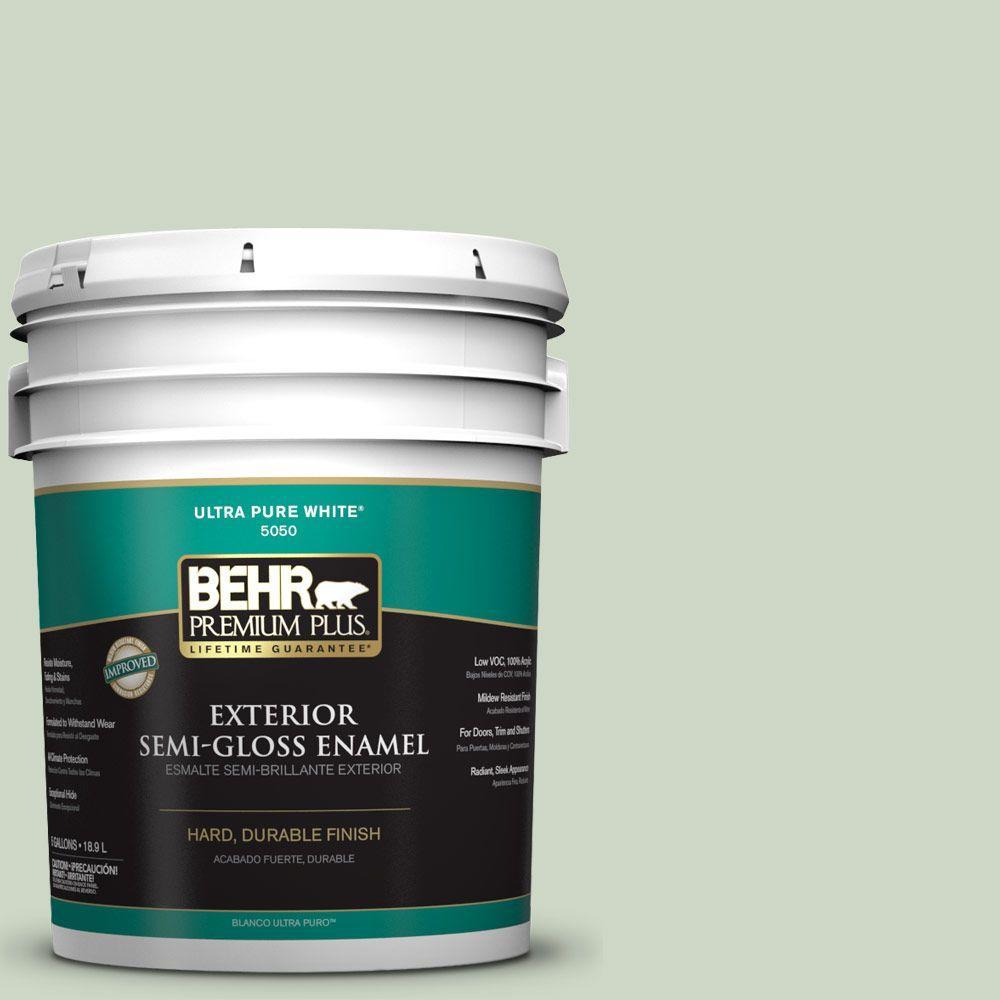 BEHR Premium Plus 5-gal. #S390-2 Spring Valley Semi-Gloss Enamel Exterior Paint