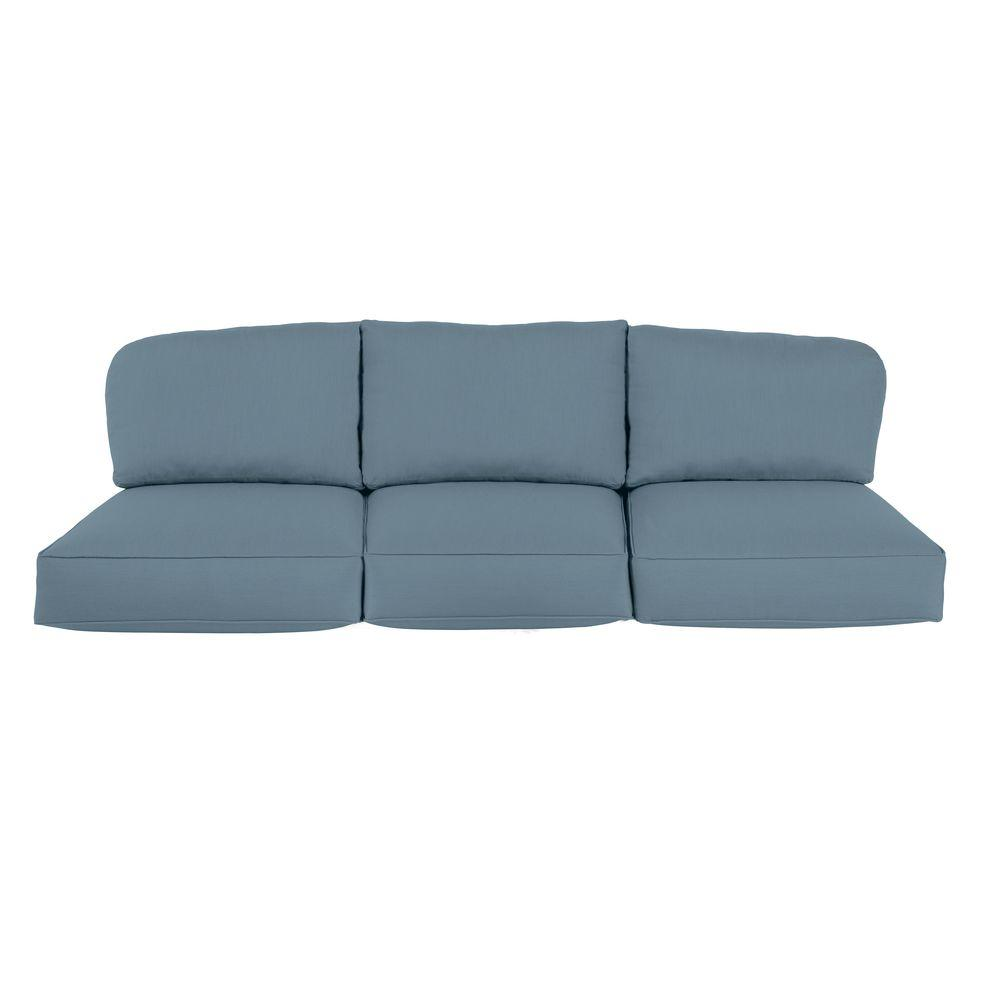 Northshore Replacement Outdoor Sofa Cushion in Denim