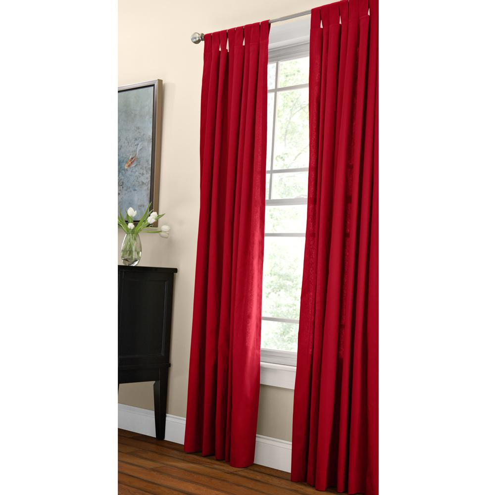 Home Decorators Collection Cotton Duck Light Filtering Window Panel in Red - 42 in. W x 84 in. L