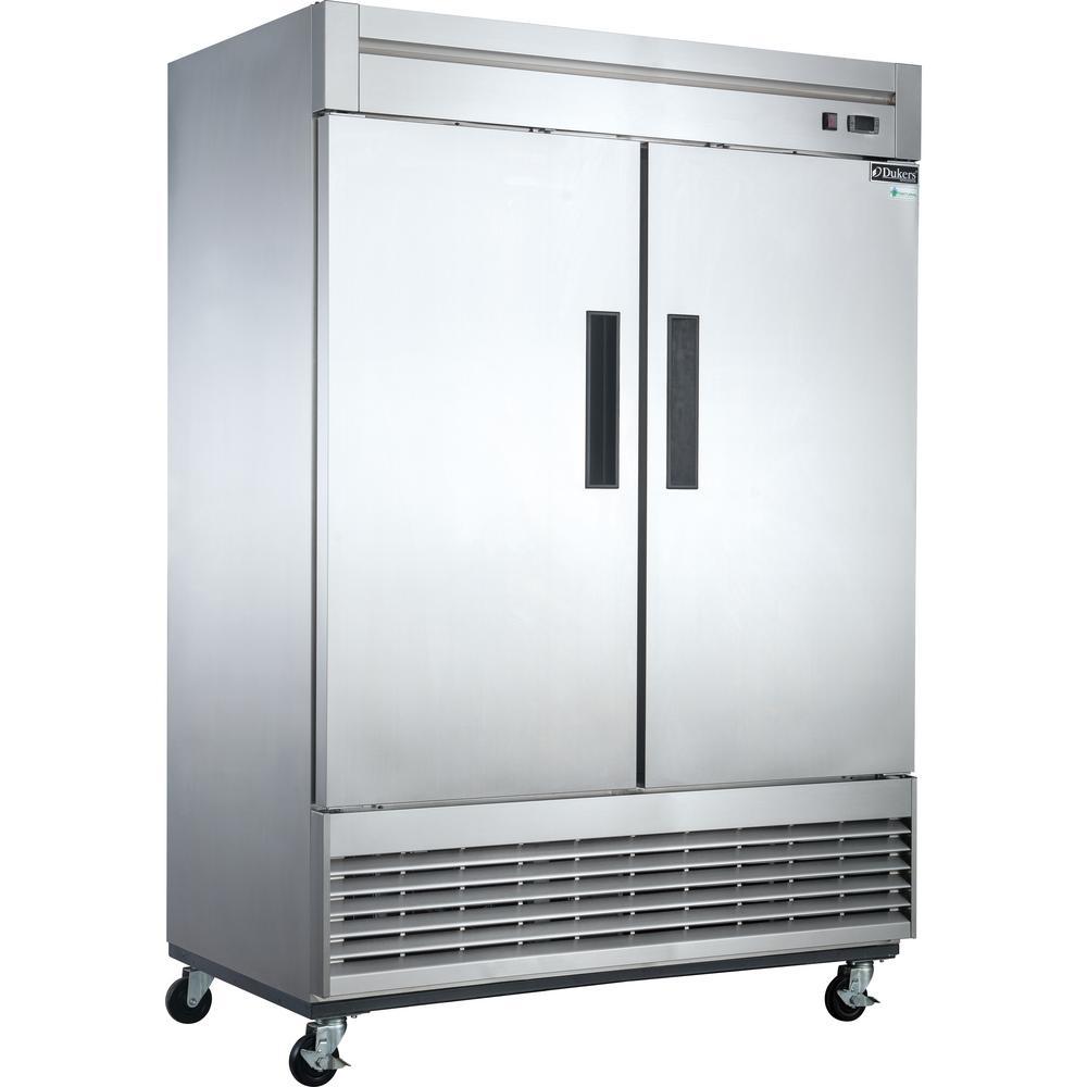 Dukers 40 7 Cu Ft 2 Door Commercial Refrigerator In