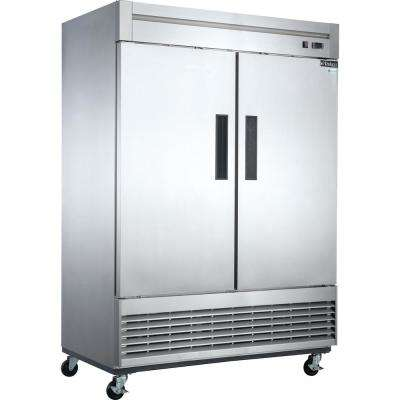 40.7 cu. ft. 2-Door Commercial Refrigerator in Stainless Steel