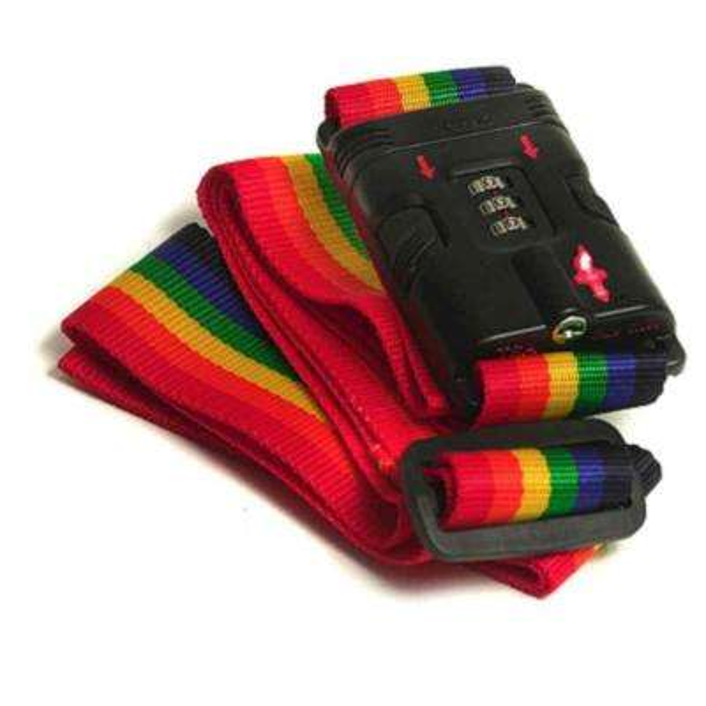 TSA-Approved Rainbow Luggage Strap