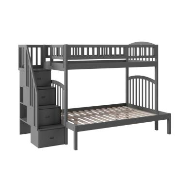 Westbrook Grey Twin Over Full Staircase Bunk