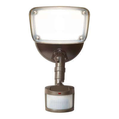 180° Bronze Motion Activated Outdoor Integrated LED Flood Light with Selectable CCT (3000K-5000K), 1500 Lumens