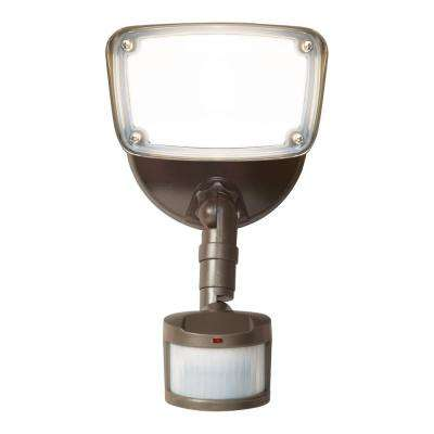 180-Degree Bronze Motion Activated Outdoor Integrated LED Flood Light with Selectable CCT (3000K-5000K), 1500 Lumens