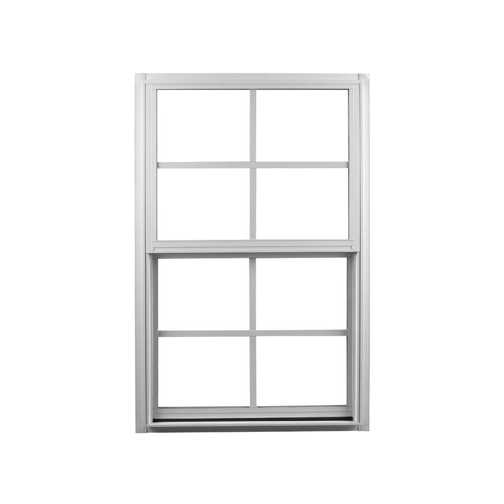 Ply gem in x in single hung aluminum window for Metal windows