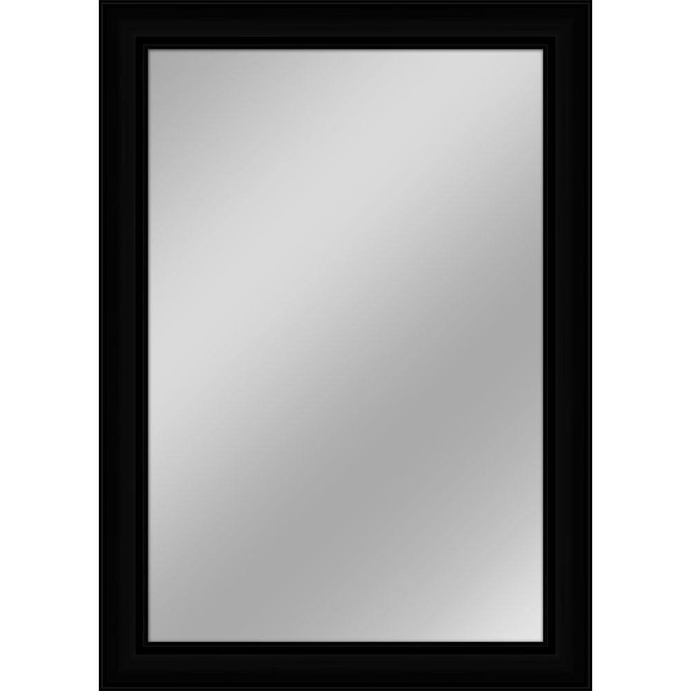 30 in. x 42 in. Black Non-Beveled Framed Wall Mirror-F7643R-B - The ...