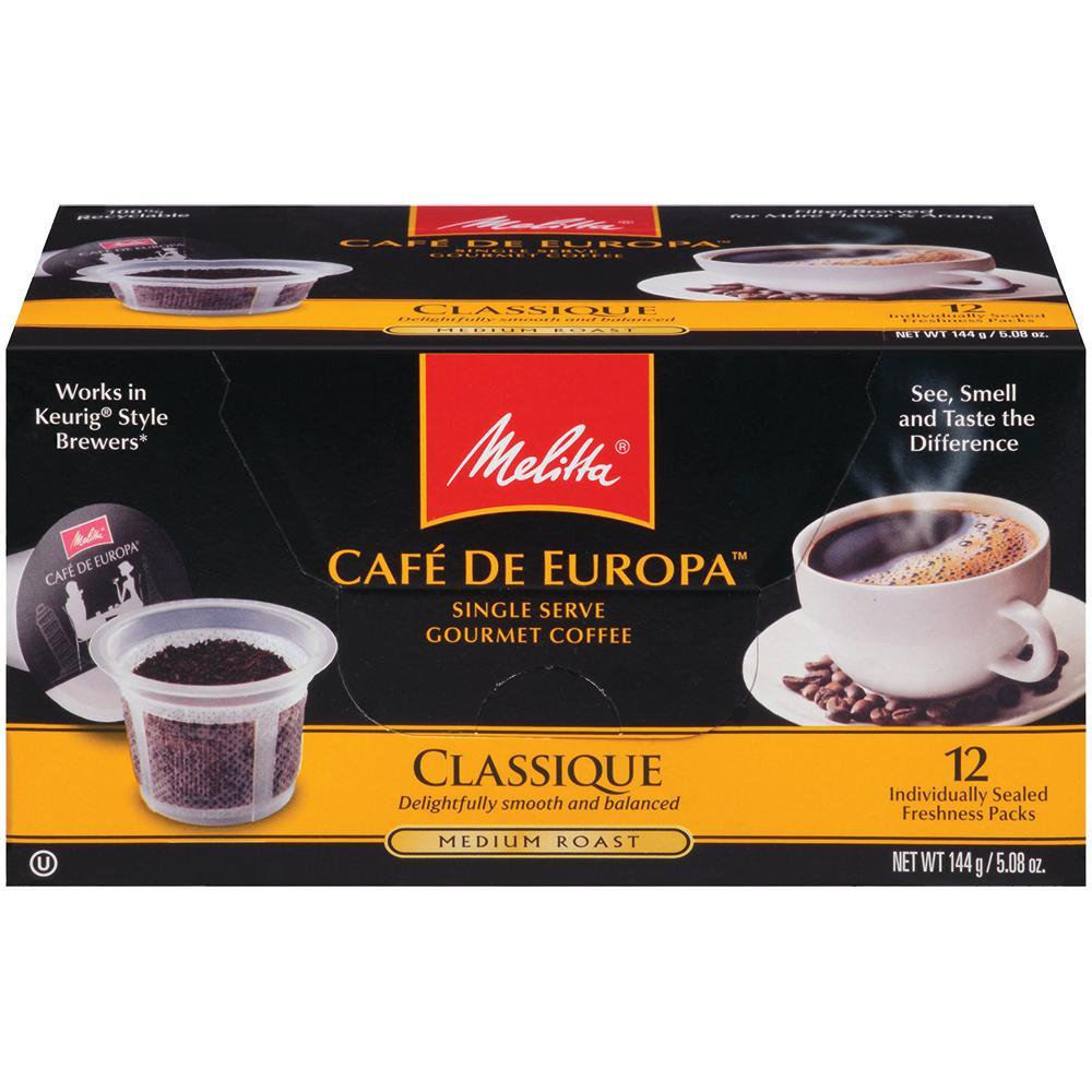 Cafe de Europa Classique 72 count Single Serve Coffee Capsule