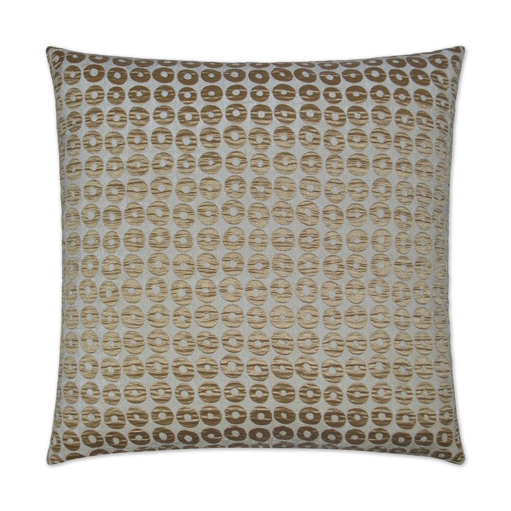 Mirabelle gold feather down 24 in x 24 in standard decorative throw pillow