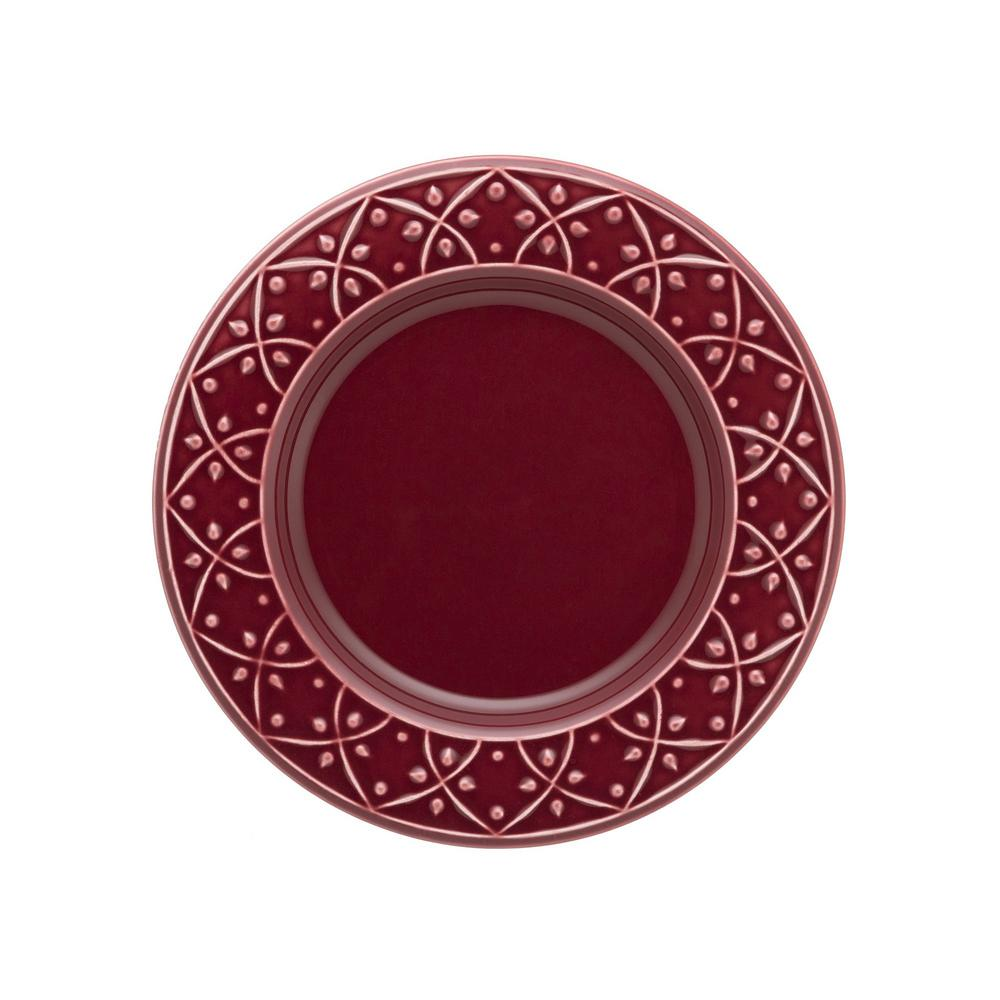 Manhattan Comfort 7.87 in. Mendi Maroon Red Salad Plates (Set of 12) was $139.99 now $79.49 (43.0% off)